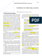 Guideline for Addressing Acoustics