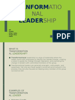 tranformational leadership