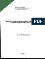 Análise Comparativa Da Ecologia de Populações de Cnemidophorus