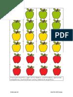 Frutas Para Recortar y Jugar Con Los Números