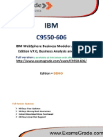 ExamsGrade C9550-606 Test PDF Practice Questions
