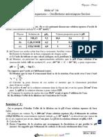 Série d'exercices N° 14 - Sciences physiques pH des solutions aqueuses – Oscillations mécaniques forcées - Bac Sciences exp (2014-2015) Mr Adam Bouali (1).pdf