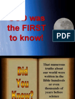 God First to Know