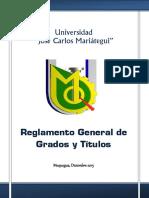 REGLAMENTO GENERAL DE GRADOS Y T+ìTULOS (Nuevo 2016)