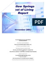 Yellow Springs Cost of Living Report - November 2002