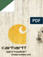 Catalogo Carhartt Primavero/Verano 2016