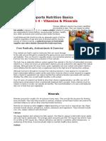 Sports Nutrition Basics Pt4