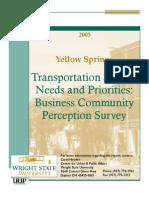 Yellow Springs Transport Study - June 2005