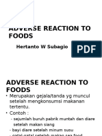 Adverse Reaction to Foods