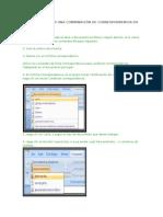 Pasos Para Crear Una Combinación de Correspondencia en Word 2007