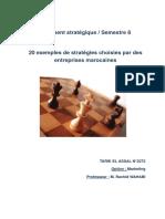 20 exemples de stratégies choisies par des entreprises marocaines.doc