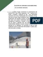 Informe Instalación de Cortinas Southern Perú