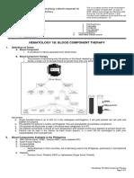 Pediatrics - Hematology 1B - Blood Component Therapy