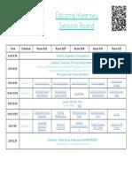 edcamp session board - kearney