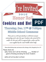 honor roll invite dec