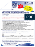 J Taylor San Antonio Differentiation Workshop Flyer