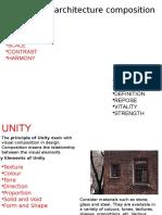Principles of Architecture Composition