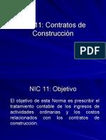 NIC 11 Contratos de Construccion
