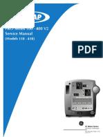 Manual de Servicio Monitor Dinamap PRO-100,400