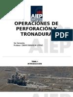 1.- Introducción perforación Tronadura