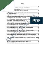 Formulas de Grafiato,Textura,Tintas,Selador e Massa Corrida