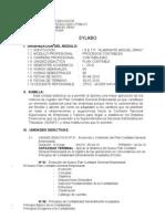 Silabus de Plan Contable 2010