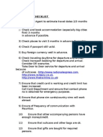 Travel Checklist International