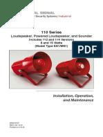 Federal Signal-fire Horn Manual