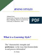 LearningStyles Handout