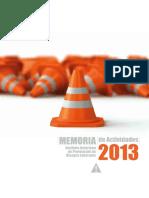 Memoria de Actuaciones 2013