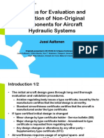 Process for Evaluation and Validation of Non-Original Components for Aircraft Hydraulic Systems