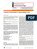 WJG-Treatment of Hemorrhoids a Coloproctologist's View