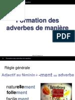 2 Formation Des Adverbes de Maniere