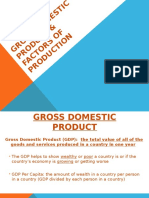 gross domestic product   factors of production
