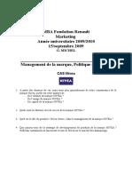 Management de La Marque Cas Nivea