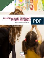 La inteligencia que España necesita se puede desarrollar (Pablo Fernández Berrocal)