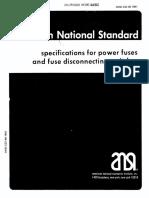 C37.46-1981 Spec Power Fuses
