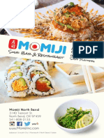 Momiji North Bend Menu