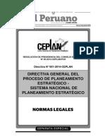 Directiva General Del Proceso de Planeamiento Estrategico - Sinaplan