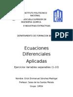 Ejercicios de Separación de Variables
