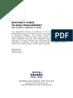 Buoyancy Force in Mass Measurement