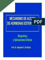 Mecanismo de Accion de Hormonas Esteroides
