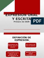Expresión Escrita y Oral