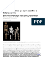 Un Extraño Homínido Que Aspira a Cambiar La Historia Evolutiva - A. Sediba (El País)
