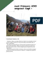 Cantonament Primavara 2010 - Compuneri Copii