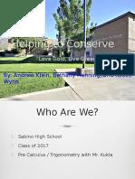 Hepling to Conserve -School