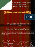 Cadena epidemiologica  CLASE 6 (2009) - copia.ppt