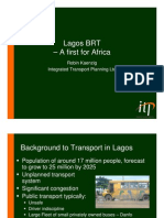Lagos BRT - A First for Africa - Robin Kaenzig
