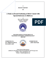 Project on Brand Positioning of Birla Cement(AMIT GHAWARI Vision School of Mgmt. Chittorgarh