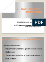 Chapter 4 mathematical reasoning